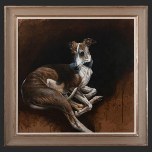 Living Art - Bryan Hanlon - Whippet painting