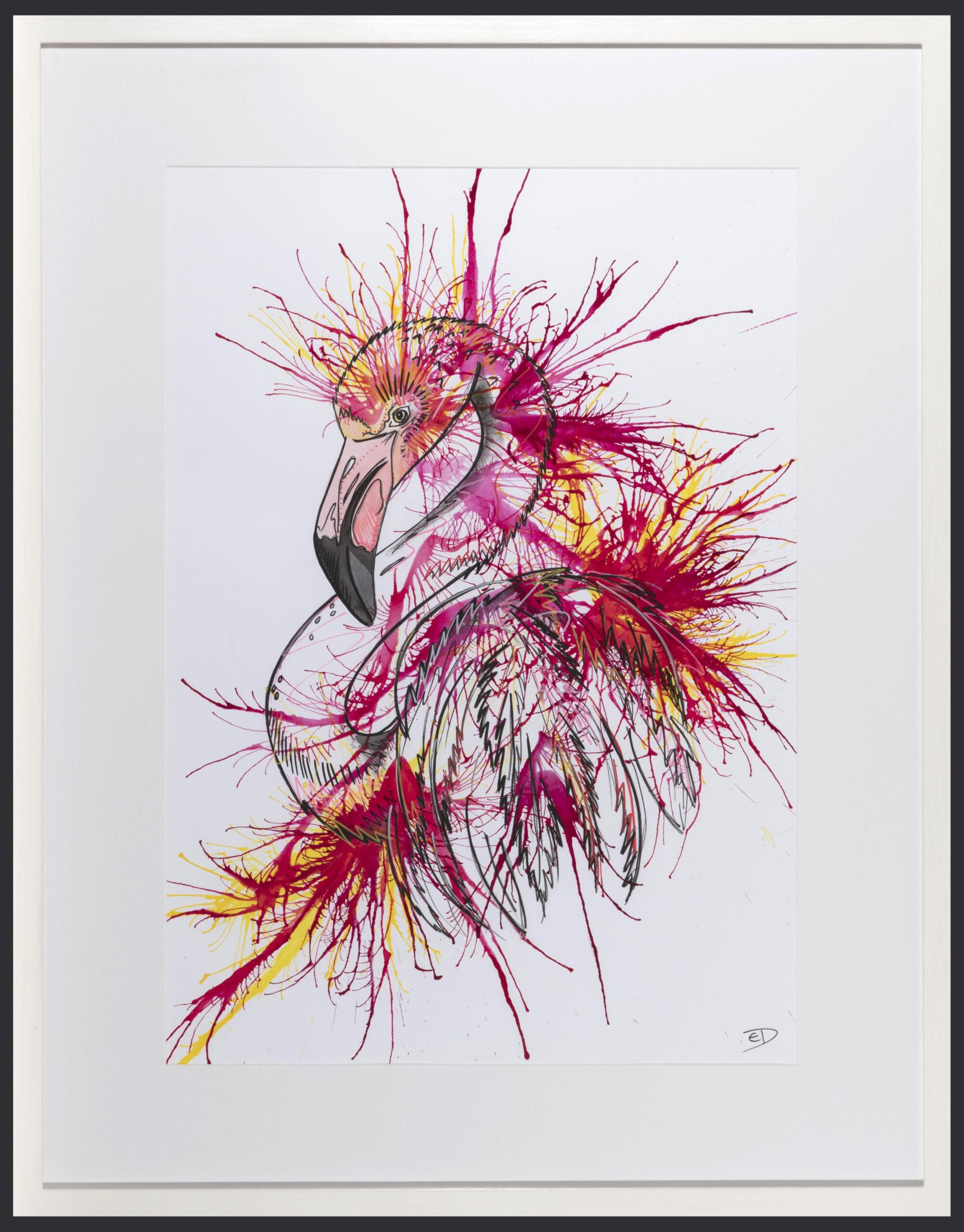 Living Art - Emily Donald - Flamingo