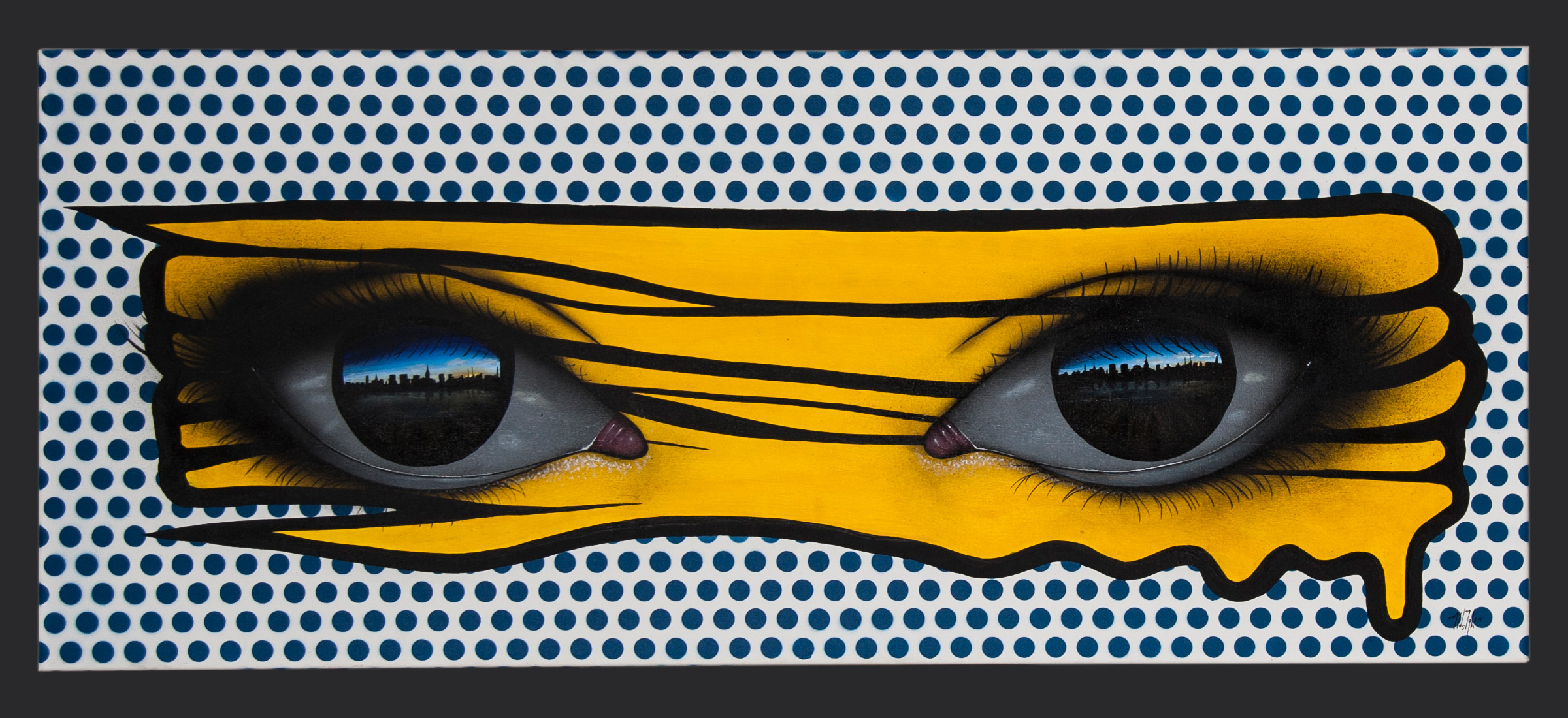 Living Art - My Dog Sighs - Untitled (yellow on blue)